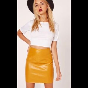 Missguided Faux Leather Skirt size 10